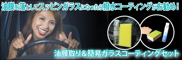 マイエターナル 簡易ガラスコーティング 撥水剤 油膜クリーン
